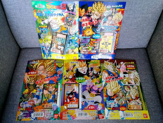 Réception : 5 displays Carddass Dragon Ball
